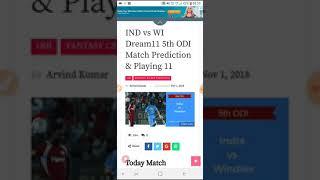 IND VS WI Dream11 Prediction 5th ODI (Today Match Prediction)