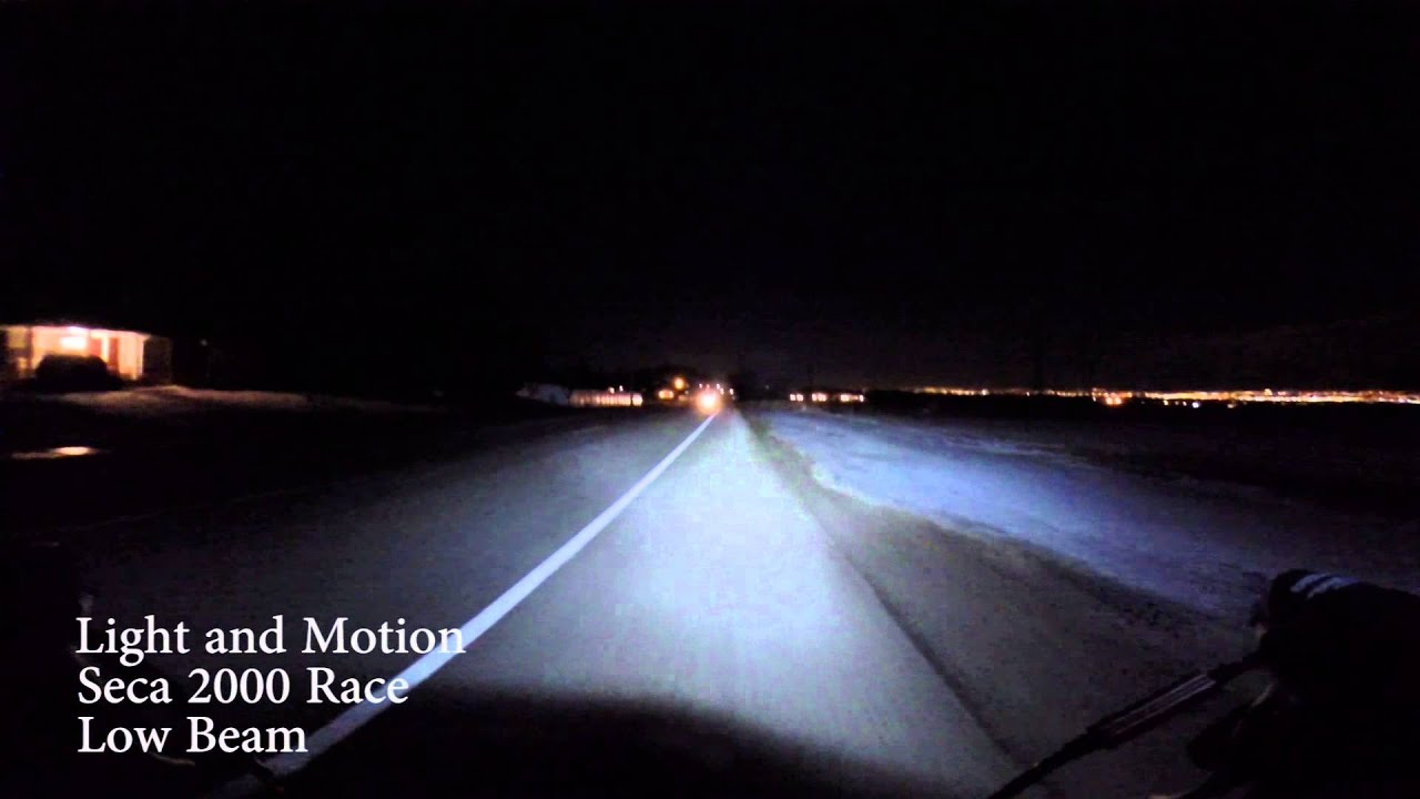 Light And Motion Seca 2000 Race Low And High Beam Road Test   YouTube