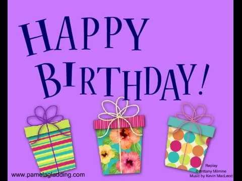 Musical Happy Birthday Greeting Ecard