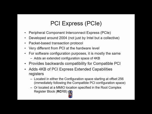 PCI and PCIe configuration space