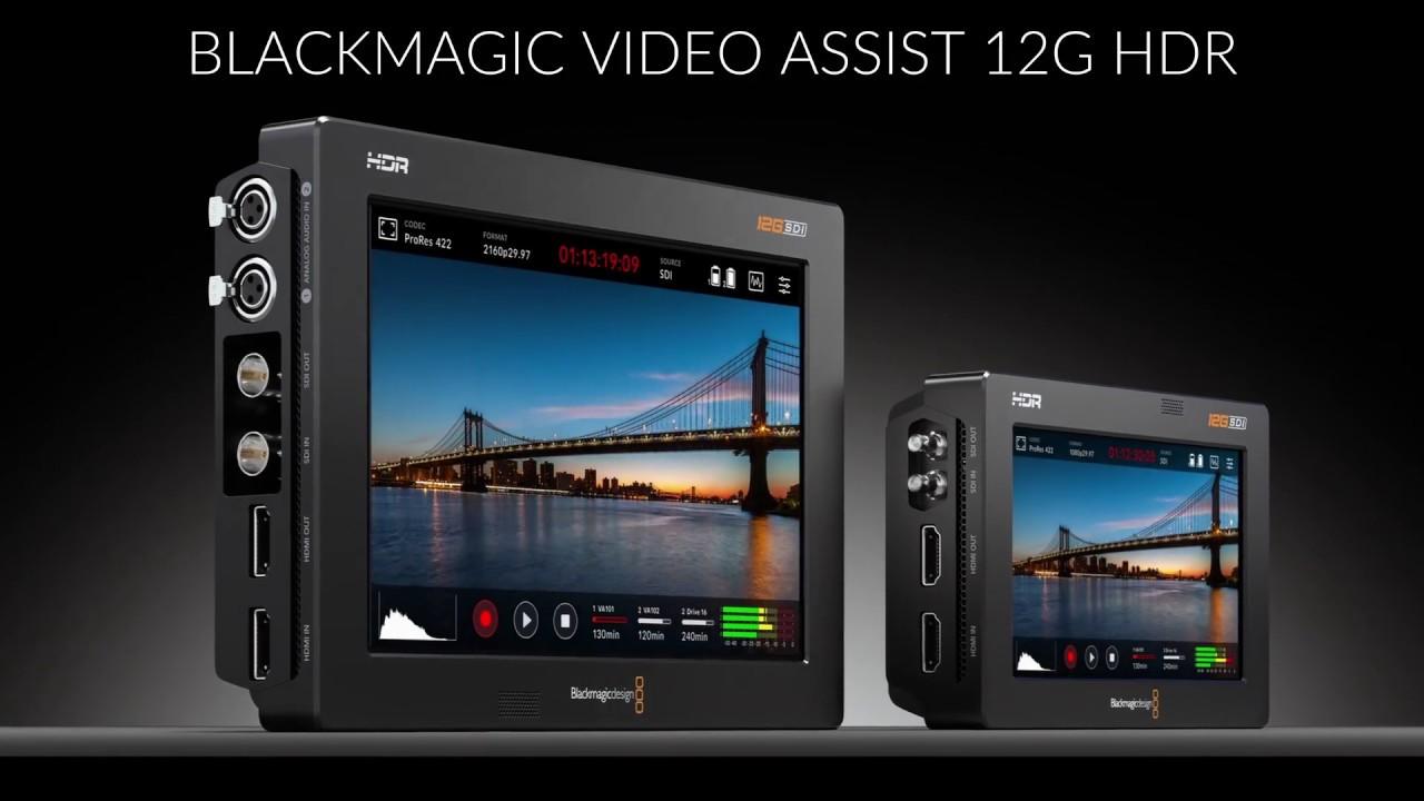 New Blackmagic Design Video Assist 12g Youtube