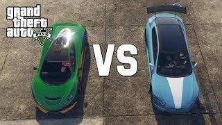 GTA V - TESLA VS SUPER CAR!
