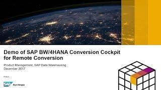 Demo SAP BW/4HANA التحويل قمرة القيادة