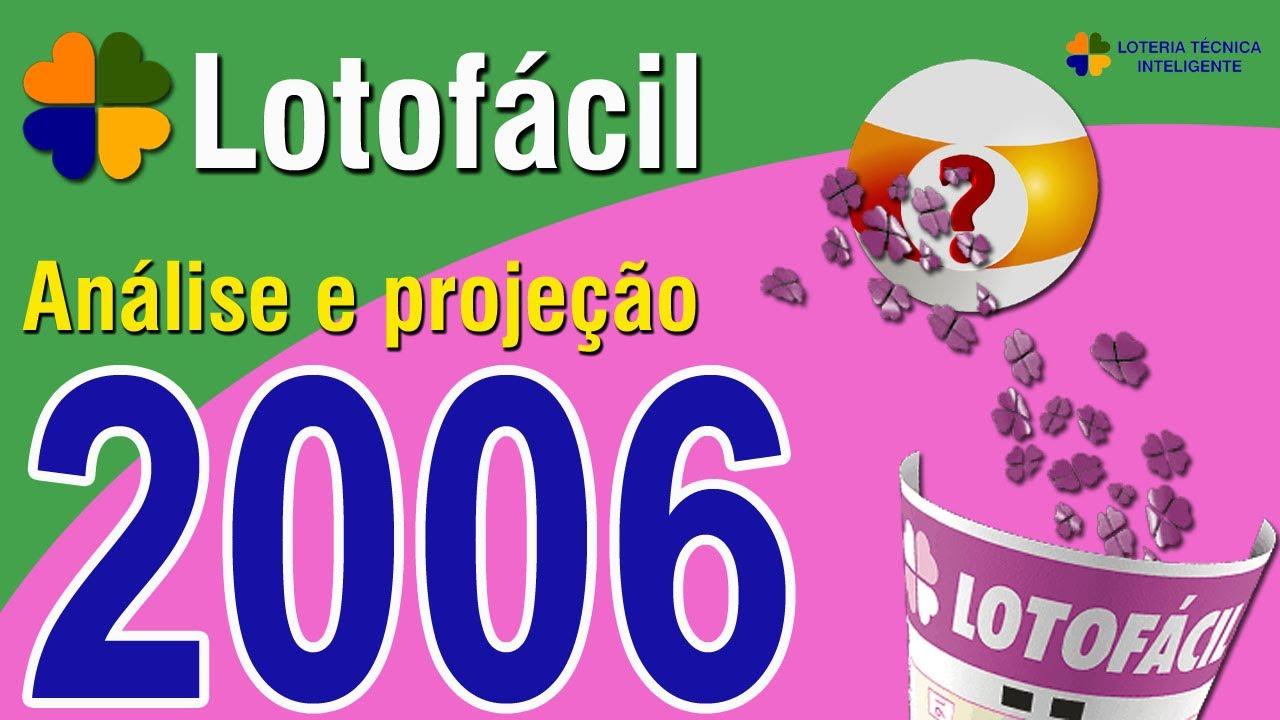 ANÁLISE E PROJEÇÃO PARA O CONCURSO 2006 DA LOTOFÁCIL