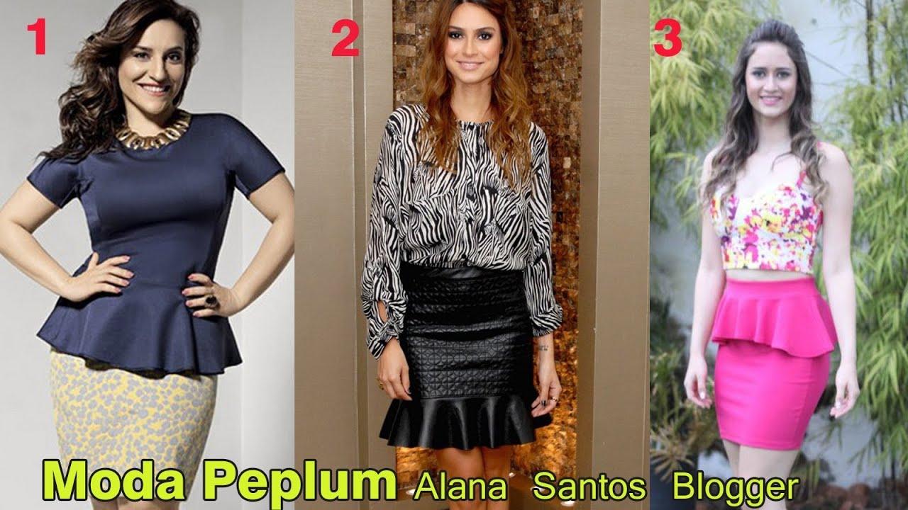 fe9b3514ae Aprenda a fazer Molde blusa Peplum por Alana Santos Blogger - YouTube