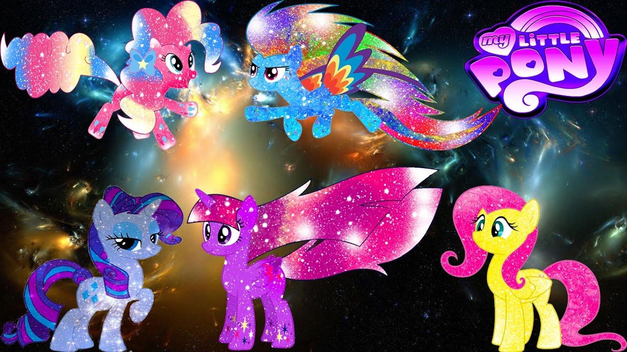 - My Little Pony Mane 6 Transforms Into Galaxy Rainbow Ponies