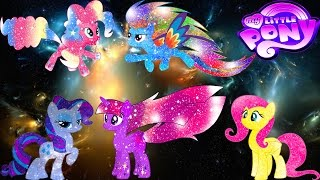 Скачать My Little Pony Mane 6 Transforms Into Galaxy Rainbow Ponies Princesses MLP Coloring Book For Kids