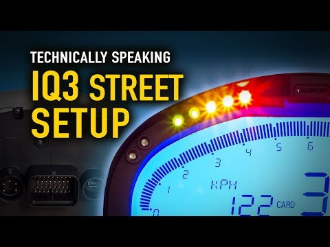 How to setup your IQ3 Street Dash - Technically Speaking