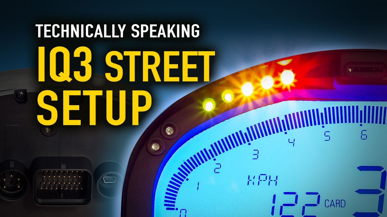 How to setup your IQ3 Street Dash - Technically Speaking Dash Display Racepak Wiring Diagram on