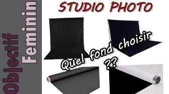 ? Quel fond utiliser pour un STUDIO PHOTO ?