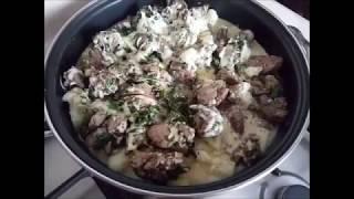 Запеканка из цветной капусты и куриной печени   диетическое блюдо