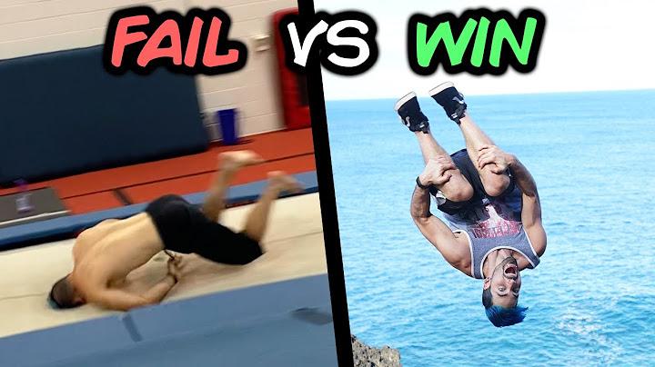 funny wins vs fail compilation parkour trampoline