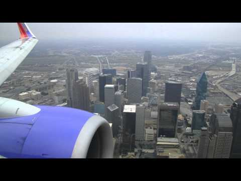 Awesome Southwest 737-700 Landing At Dallas Love Field Airport