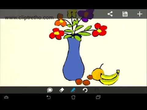Vẽ lọ hoa và qủa,tranh tĩnh vật hoa qủa, cách vẽ lọ hoa và quả