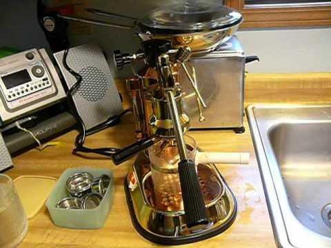 La Pavoni Brass Copper Espresso Coffee Maker