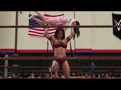 Bianka Kiss vs Angela Steel SQUASH (1P vs 2P dummy) WWE 2K18 Ryona