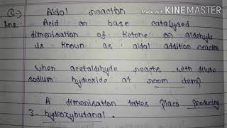 Aldol addition reaction || Important reactions of Organic chemistry || Mechanism of Reaction