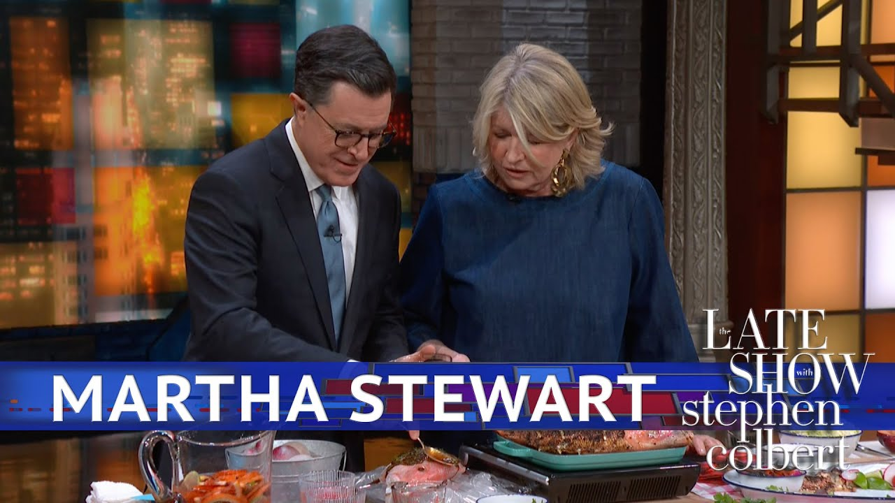 Martha Stewart And Stephen Grill Fish, Drink Sangria