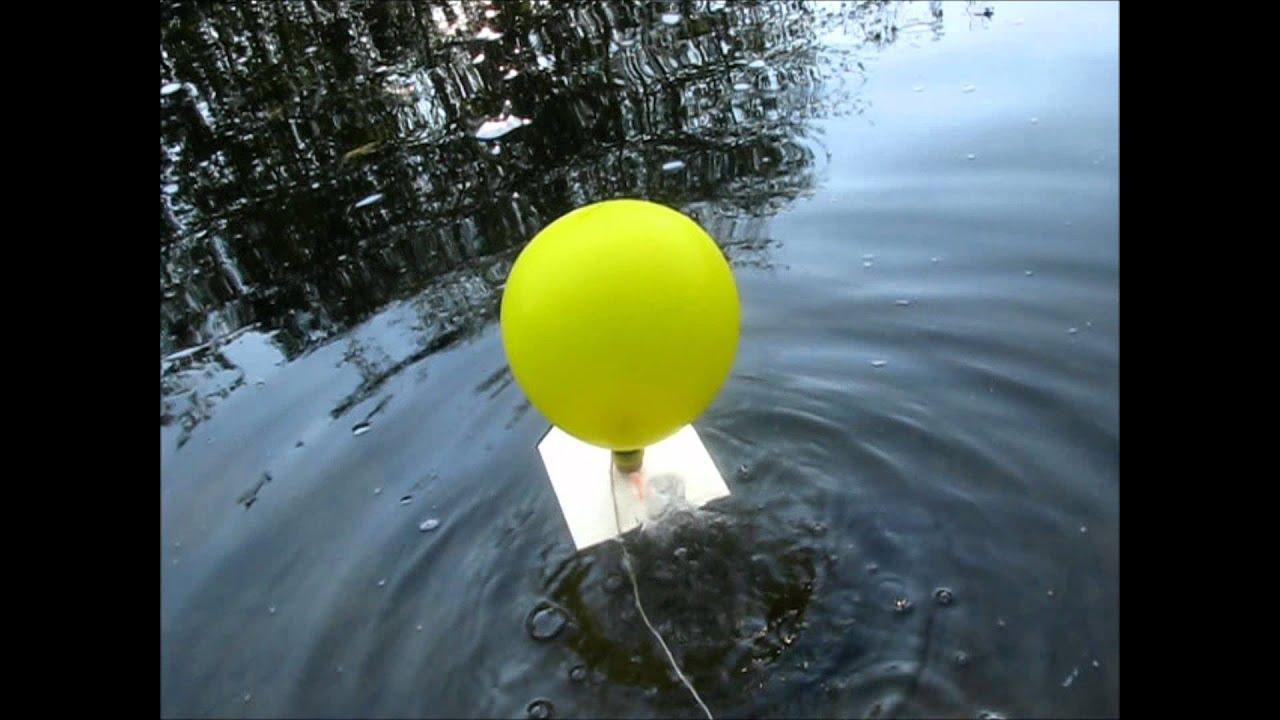 Luftballon boot projekt 2 basteln - YouTube