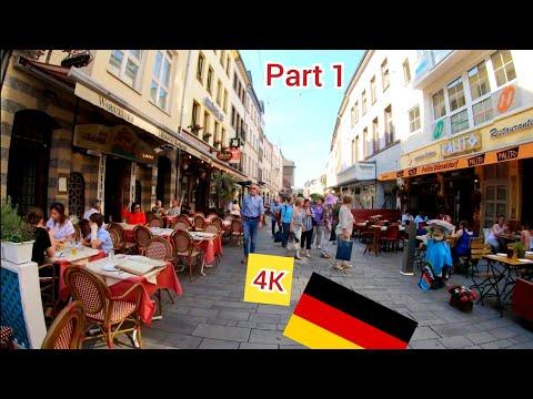 ⁴ᴷ DUSSELDORF walking tour 🇩🇪 Germany (Deutschland) part 1