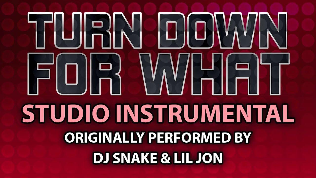 lil jon turn down for what instrumental