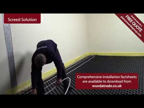 Wunda's Screed Floor heating solutions (UFH)