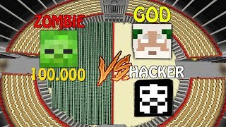 Minecraft Battle NOOB vs PRO  HACKER AND GOD VS 100,000 CLONES ZOMBIE Challenge in Minecraft