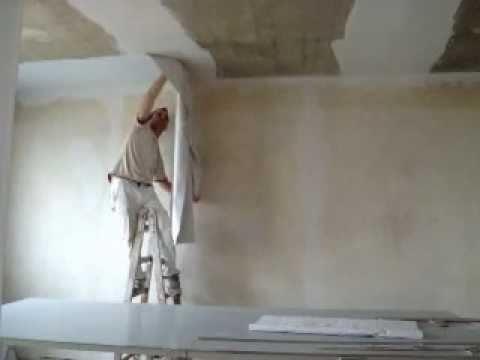 Decke mit Rauhfaser tapezieren - YouTube - decke tapezieren