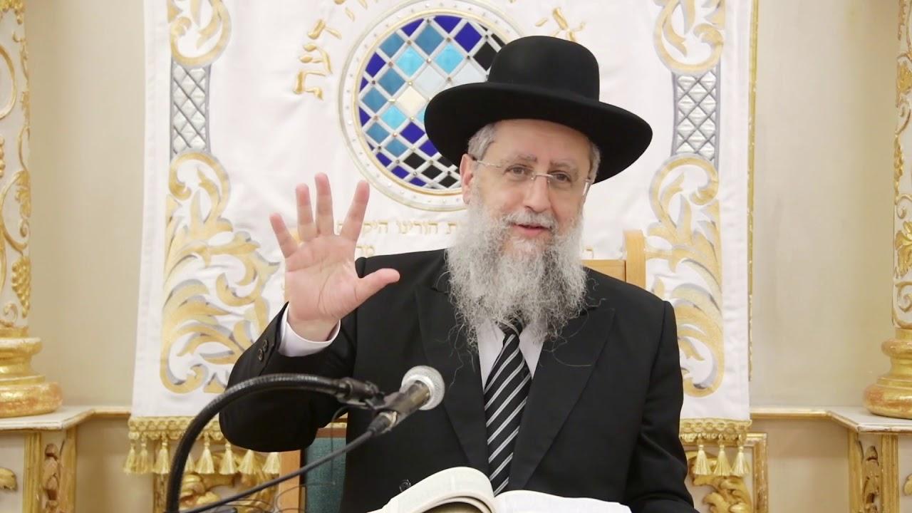 הרב דוד יוסף בעל הלכה ברורה שיעור הלכות פסח בבית מדרש יחוה דעת