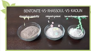 Bentonite clay -vs- Rhassoul clay  -vs- Kaolin clay for NATURAL HAIR