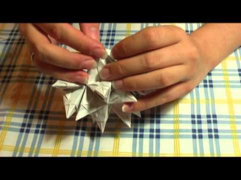origami bascetta stern anleitung bastelanleitung elemente zusammenstecken teil 2 2 youtube
