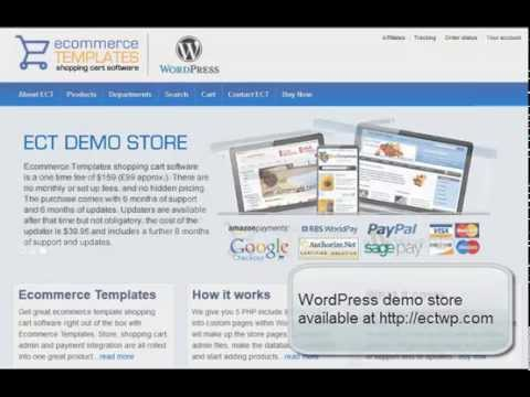 Wordpress Shopping Cart From Ecommerce Templates Youtube