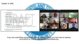October 14, 2020 East Whiteland Board Of Supervisors