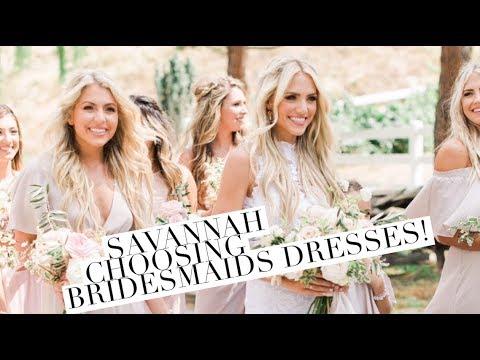 Savannah choosing bridesmaids dresses Pre-Wedding!