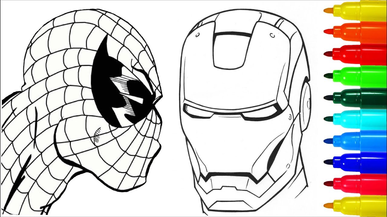 Spiderman Iron Man Captain America Coloring Pages