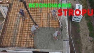 Betonowanie stropu. Budowa domu 2021. Jak wybudować dom. Strop monolityczny.