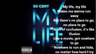 50 Cent - My Life ( Lyrics ) Ft. Eminem & Adam Levine ( NEW SONG)