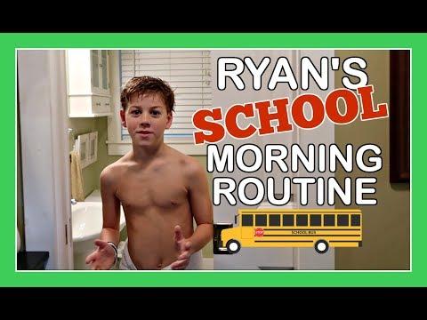 RYAN'S SCHOOL MORNING ROUTINE
