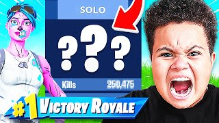I EXPOSED Kaylen's Fortnite Stats (11 YEAR OLD)