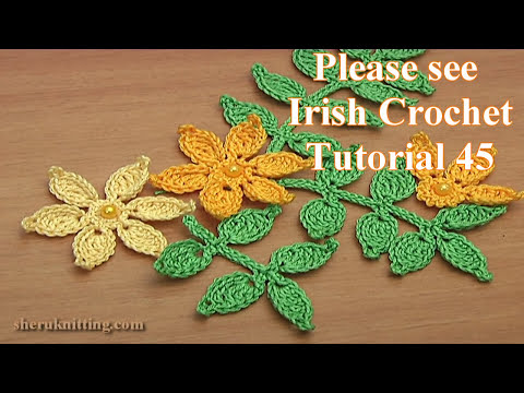How To Crochet Leaf Branch Tutorial 46 Youtube