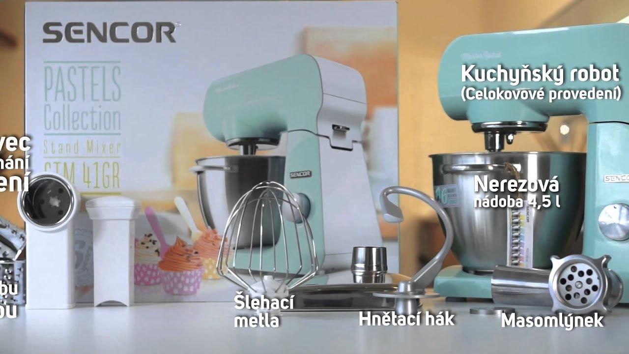 Kuchyňský Robot SENCOR STM 41GR | Pastels Collection - YouTube