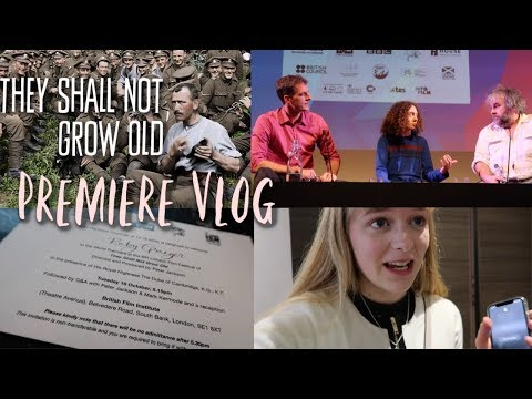 The Premiere of They Shall Not Grow Old! (Vlog) || AD