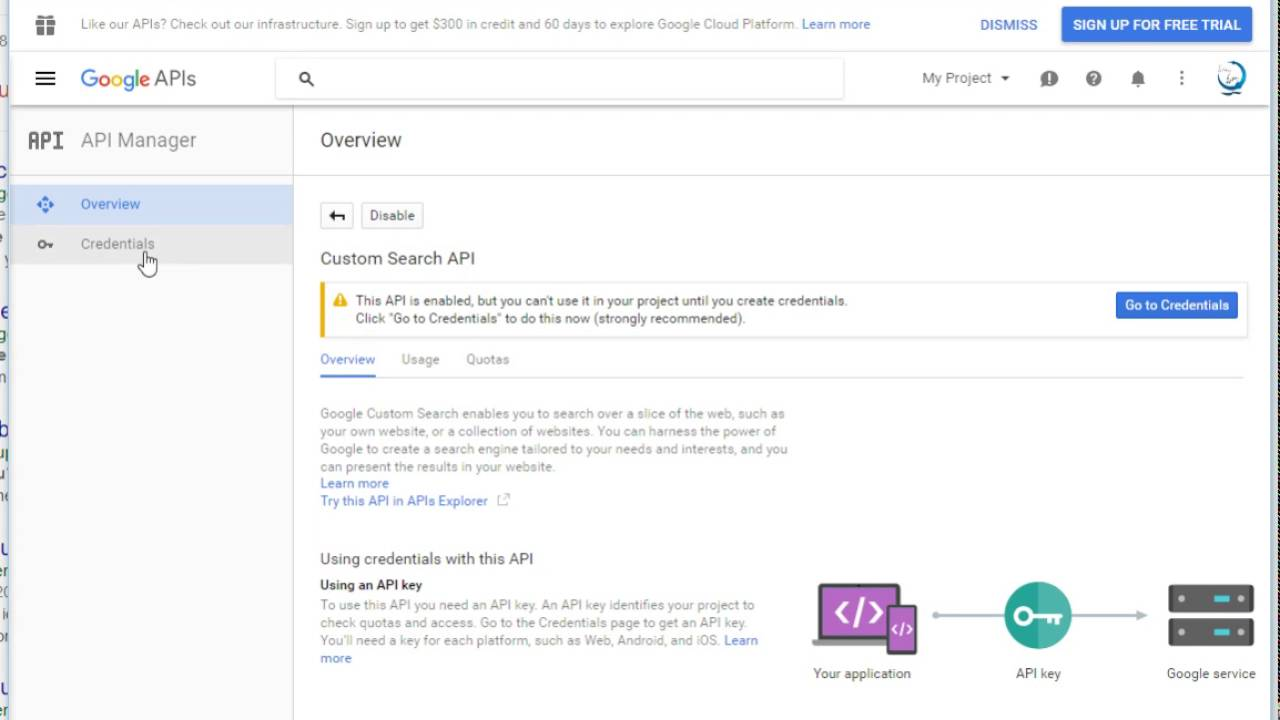 Create Google Search API KEY