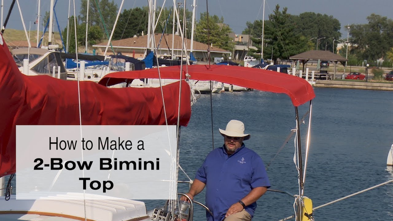 Binding and Insert Bimini Top Kit with Sunbrella YKK Zippers