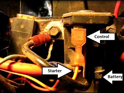 How to troubleshoot and replace the starter solenoid on an