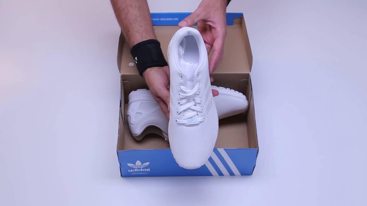 6319ce566 ZAKCRET Sports  Unboxing adidas Originals ZX FLUX S79093 Λευκό - YouTube