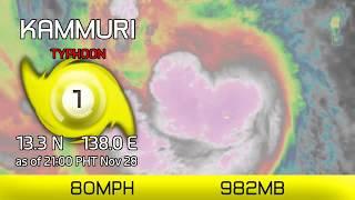 Typhoon Kammuri Persists In Philippine Sea   9pm Pht Nov 28