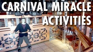 Carnival Miracle Tour & Review: Activities ~ Carnival Cruise Lines ~ Cruise Ship Tour & Review