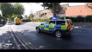 Multiple Police cars escort ambulance to QMC hospital
