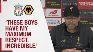 Klopp's Wolves reaction | 'These boys have my maximum respect' | LFC v Wolves